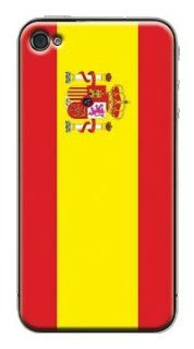 Spain Spanish flag   iPhone 4 & 4S Anti Slippery Protection Cover: Automotive