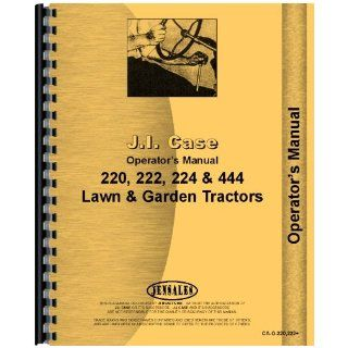 Case 444 Lawn & Garden Tractor Operators Manual Jensales Ag Products Books