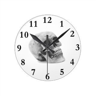 Scary Skull Halloween Theme Wall Clock