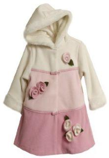 Bonnie Jean Girls 2 6X Colorblock Fleece Hooded Coat, Pink, 4 Outerwear Clothing