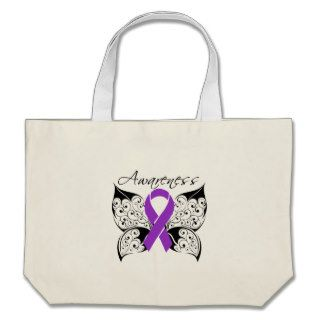 Tattoo Butterfly Awareness   Lupus Canvas Bags