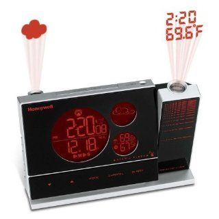 Honeywell PCR426W Weather Forecaster with Dual Projection and Atomic Clock   Electronic Alarm Clocks
