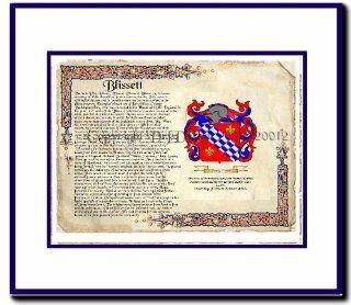 Blissett Coat of Arms/ Family History Wood Framed   Prints