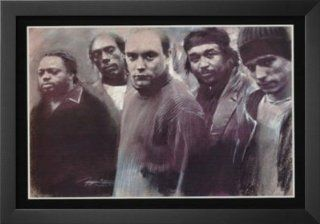 Professionally Framed Dave Matthews Band   Pastel Portrait, Music Poster   13x19 with Solid Black Wood Frame   Prints