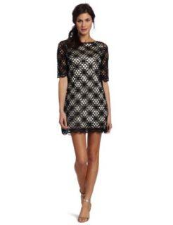 Jax Women's Crochet Dress, Cream/Putty, 16 at  Women�s Clothing store: