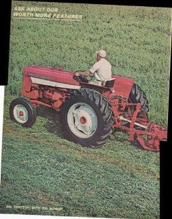 International Farmall 444 Tractor With 230 Mower 2 Pg 1968 Vintage Antique Advertisement  Prints