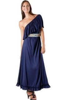 Alki'i Full length Casual One Shoulder Long Maxi Dress   Purple XL at  Women�s Clothing store: