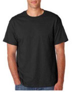 Hanes Adult Beefy T T Shirt Black 4Xl