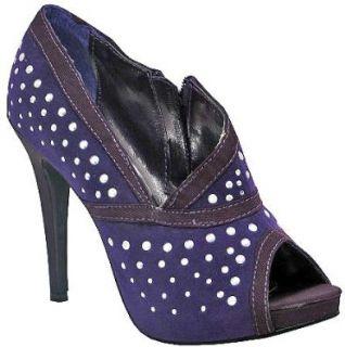 Liliana Shakira Purple Faux Suede Women Ankle Boots: Shoes