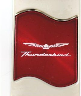 Ford Thunderbird Rectangular Wave Red Key Fob Authentic Logo Key Chain Key Ring Keychain Lanyard Automotive
