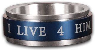 Colored Spinner Ring   Live For Him: Clothing