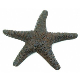 "Rustic Cast Iron Starfish 8""   Starfish Decor   Nautical Home Design   Decorating Nautical Theme   Beach Cottage Interior Decorating   Decorative Plaques"