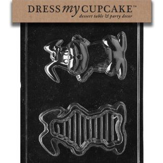 Dress My Cupcake DMCE456 Chocolate Candy Mold, Flop Ear Bunny Pour Box, Easter Kitchen & Dining