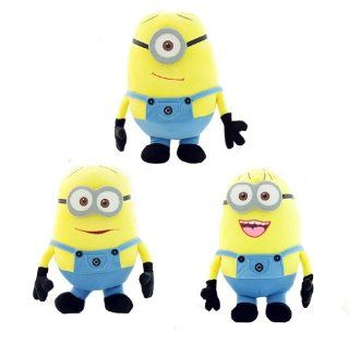 3 Pcs Dave Jorge Stuart 50cm Large Despicable Me Plush Toys Minions Dolls Pillow: Toys & Games