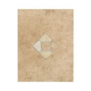 Daltile Brixton Mushroom 9 in. x 12 in. Ceramic Listello Wall Tile DISCONTINUED BX03912DECO1P