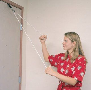 Exercise   Door Pulley Exercise Set A simple, yet effective home/office pulley system helps increase range of motion in arms while stimulating muscles. * Applicable for arthritis, tendonitis, frozen shoulder syndrome, rotator cuff injury, capsulitis and bu