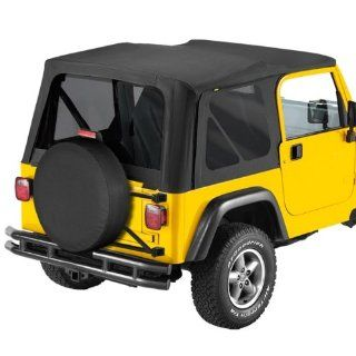 Bestop Replace A Top with Tinted Side and Rear Windows, No Doors Black Denim 1997 2002 Jeep Wrangler TJ # 51180 15 Automotive