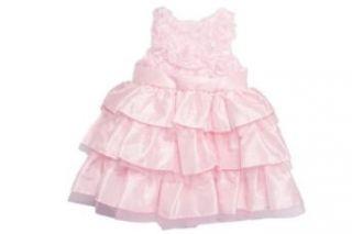 Mud Pie Baby Girl Pink Silk Dress: Clothing