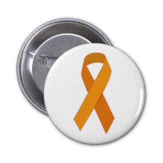 ORANGE RIBBON CAUSES ANIMALS MOTIVATIONAL CARING S PIN
