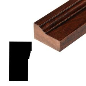 Main Door Rustic Collection 2 1/4 in. x 80 in. Prefinished Solid Mahogany Type Brickmold Kit SH MAH BM 80IN PF RUSTIC