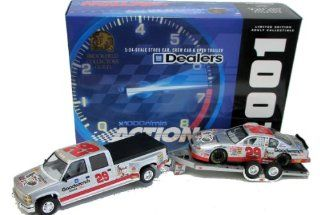 2001 Nascar Kevin Harvick #29 Gm Goodwrench Limited 2,508 Pcs 124 Scale Stock Car, Crew Cab & Open Trailer Toys & Games