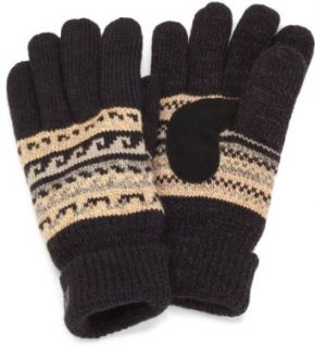 Isotoner Men's Ultradry Waterproof Glove with Gathered Wrist, Twill, One Size at  Men�s Clothing store