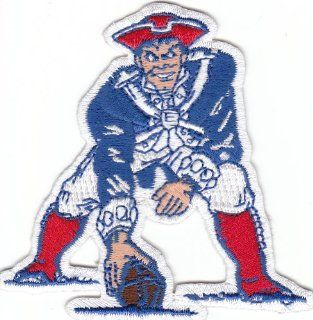 New England Patriots 3 Inch 'Pat Patriot' Throwback Patch with the Old Logo (iron or sew on): Everything Else