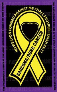 "Sarcoma Bone Cancer Ribbon Decal 4"" X 7"": Everything Else"