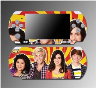 Austin Ally Dez Trish Moon Music Dawson Song Video Game Vinyl Decal Sticker Cover Skin Protector for Sony PSP Slim 3000 3001 3002 3003 3004 Playstation Portable Video Games