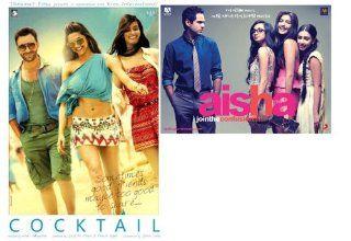 Cocktail (2012) (Hindi Movie / Bollywood Film / Indian Cinema DVD)  +  FREE DVD OF  Aisha (New Comedy Hindi Film / Bollywood Movie / Indian Cinema DVD) Deepika Padukone, Diana Penty, Dimple Kapadia, Boman Irani, Randeep Hooda Saif Ali Khan Movies & T