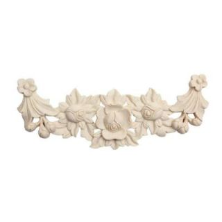 Foster Mantels Flower Swag 1 ft. x 4 1/2 in. x 3/4 in. Wood Onlay C124A