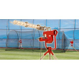 Trend Sports Heater Pro Pitching Machine and Xtender 24 Cage (HTRPRO799)