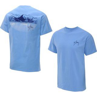 GUY HARVEY Mens Team Encounters Short Sleeve T Shirt   Size Medium, Carolina