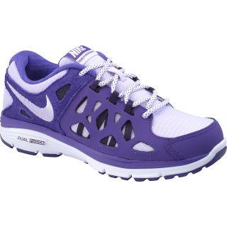 NIKE Girls Dual Fusion Run 2 GS Running Shoes   Size 6.5, Electro Purple/white