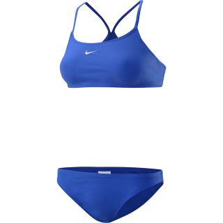 NIKE Womens Core Solid Sport Top 2 Piece Swimsuit   Size 10, Varsity Royal
