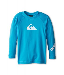 Quiksilver Kids All Time L/S Surf Shirt Boys Swimwear (Blue)