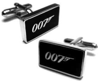 James Bond 007 Silver Cufflinks Cuff Links Clothing