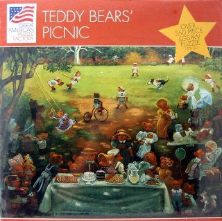 Teddy Bears' Picnic Over 550 Piece Jigsaw Puzzle Toys & Games