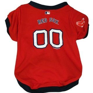 Boston Red Sox Dog Jersey   Small Hunter Mfg MLB Dog Clothing/Boston Red Sox   Sports Fan Pet T Shirts  Sports & Outdoors