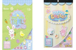 2 BOOKS of EASTER Mini Stickers 430 total   SPRING Crafts CHICKS Bunnies  BASKET Filler TOY Toys & Games