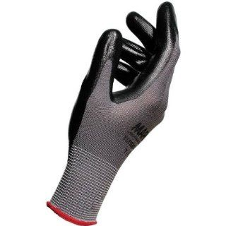 """MAPA Ultrane 553 Nitrile Palm Coated Glove, Work, 9 1/4"""" Length, Size 10, Black (Bag of 10 Pairs) Industrial & Scientific"""