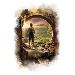 RoomMates 2.5 in. x 27 in. The Hobbit   Shire Watercolor Peel and Stick Giant Wall Decals DISCONTINUED RMK2183SLM