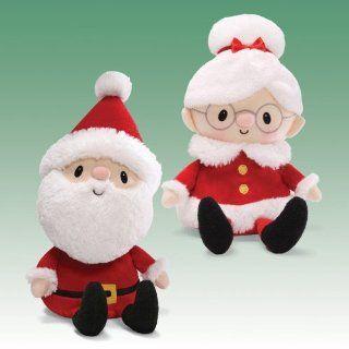 """Santa Village Mr. and Mrs. Claus Dolls 12"""" by Gund Toys & Games"""