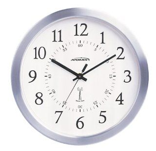 "Atomix 544   10"" Silver Anodized Aluminum Atomic Clock (Discontinued by Manufacturer): Electronics"