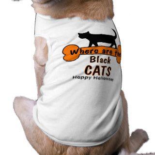 Happy Halloween cat Dog Tee Shirt