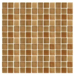 EPOCH Spongez S Brown 1410 Mosaic Recycled Glass 12 in. x 12 in. Mesh Mounted Floor & Wall Tile (5 sq. ft.) S BROWN 1410