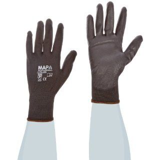 """MAPA Ultrane Lite 548 Polyurethane Palm Coated Glove, Work, 9 1/4"""" Length, Size 10, Black (Pack of 12 Pairs) Industrial & Scientific"""