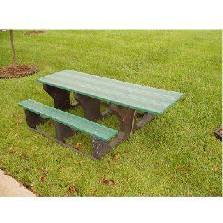 Jayhawk Recycled Plastic Picnic Table ADA   Black  Patio, Lawn & Garden