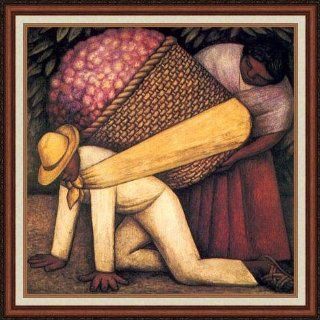 """The Flower Carrier"" by Diego Rivera   Framed Artwork   Oil Paintings"