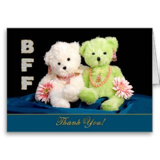 BFF   BEST FRIENDS FOREVER   THANK YOU CARD